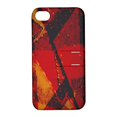 Surface Line Pattern Red Apple Iphone 4/4s Hardshell Case With Stand