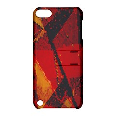Surface Line Pattern Red Apple iPod Touch 5 Hardshell Case with Stand