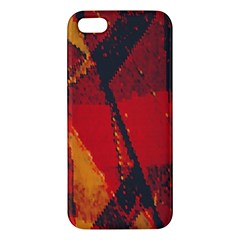 Surface Line Pattern Red Apple iPhone 5 Premium Hardshell Case