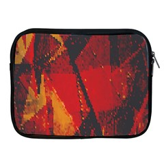 Surface Line Pattern Red Apple iPad 2/3/4 Zipper Cases
