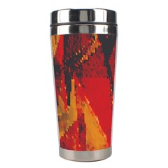 Surface Line Pattern Red Stainless Steel Travel Tumblers