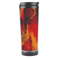 Surface Line Pattern Red Travel Tumbler
