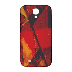 Surface Line Pattern Red Samsung Galaxy S4 I9500/I9505  Hardshell Back Case
