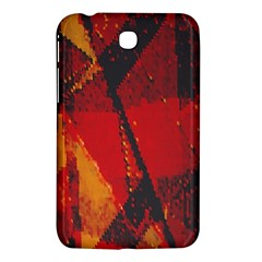 Surface Line Pattern Red Samsung Galaxy Tab 3 (7 ) P3200 Hardshell Case
