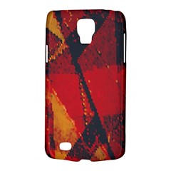 Surface Line Pattern Red Galaxy S4 Active