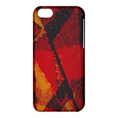 Surface Line Pattern Red Apple iPhone 5C Hardshell Case