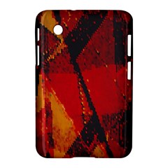 Surface Line Pattern Red Samsung Galaxy Tab 2 (7 ) P3100 Hardshell Case
