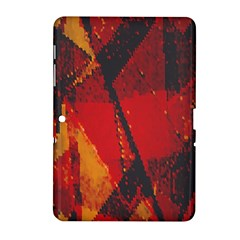Surface Line Pattern Red Samsung Galaxy Tab 2 (10.1 ) P5100 Hardshell Case