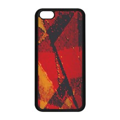 Surface Line Pattern Red Apple iPhone 5C Seamless Case (Black)
