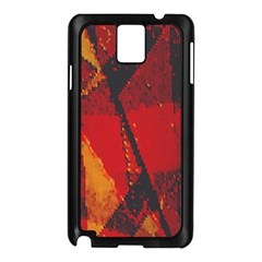 Surface Line Pattern Red Samsung Galaxy Note 3 N9005 Case (Black)