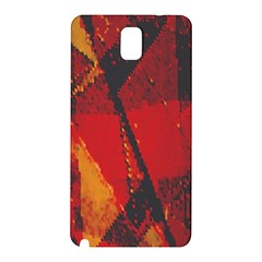 Surface Line Pattern Red Samsung Galaxy Note 3 N9005 Hardshell Back Case