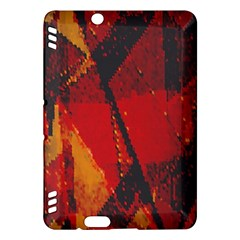 Surface Line Pattern Red Kindle Fire HDX Hardshell Case