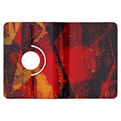 Surface Line Pattern Red Kindle Fire HDX Flip 360 Case