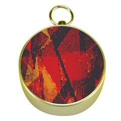 Surface Line Pattern Red Gold Compasses