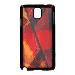 Surface Line Pattern Red Samsung Galaxy Note 3 Neo Hardshell Case (Black)