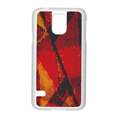 Surface Line Pattern Red Samsung Galaxy S5 Case (White)
