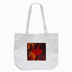 Surface Line Pattern Red Tote Bag (White)