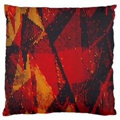 Surface Line Pattern Red Large Flano Cushion Case (One Side)