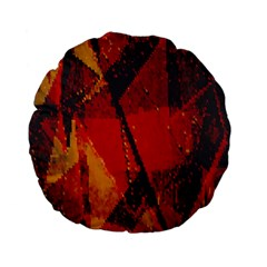 Surface Line Pattern Red Standard 15  Premium Flano Round Cushions