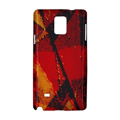 Surface Line Pattern Red Samsung Galaxy Note 4 Hardshell Case