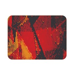Surface Line Pattern Red Double Sided Flano Blanket (mini)