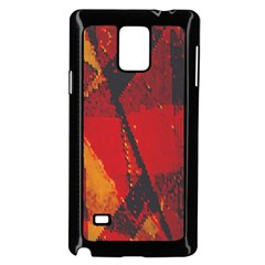 Surface Line Pattern Red Samsung Galaxy Note 4 Case (black)