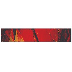Surface Line Pattern Red Flano Scarf (Large)