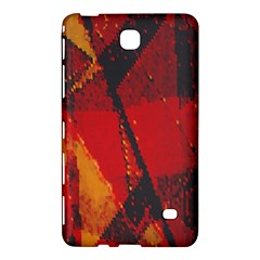 Surface Line Pattern Red Samsung Galaxy Tab 4 (8 ) Hardshell Case