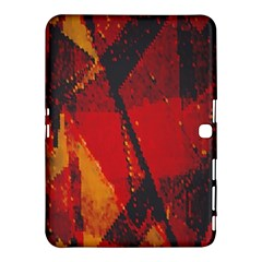 Surface Line Pattern Red Samsung Galaxy Tab 4 (10 1 ) Hardshell Case