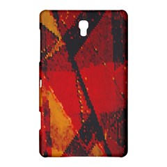 Surface Line Pattern Red Samsung Galaxy Tab S (8.4 ) Hardshell Case