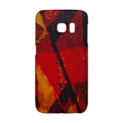Surface Line Pattern Red Galaxy S6 Edge