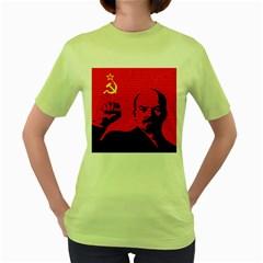 Lenin  Women s Green T-Shirt