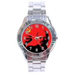 Lenin  Stainless Steel Analogue Watch