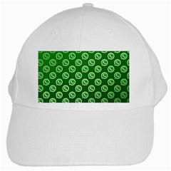 Whatsapp Logo Pattern White Cap