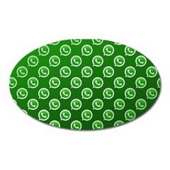 Whatsapp Logo Pattern Oval Magnet