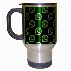 Whatsapp Logo Pattern Travel Mug (Silver Gray)