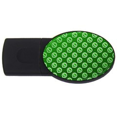 Whatsapp Logo Pattern Usb Flash Drive Oval (4 Gb)