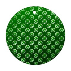 Whatsapp Logo Pattern Round Ornament (Two Sides)