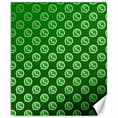 Whatsapp Logo Pattern Canvas 20  x 24
