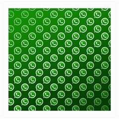 Whatsapp Logo Pattern Medium Glasses Cloth