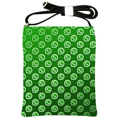 Whatsapp Logo Pattern Shoulder Sling Bags