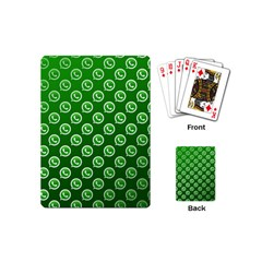 Whatsapp Logo Pattern Playing Cards (mini)