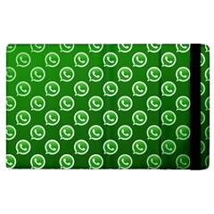 Whatsapp Logo Pattern Apple iPad 2 Flip Case