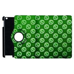 Whatsapp Logo Pattern Apple iPad 2 Flip 360 Case