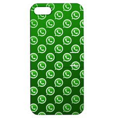 Whatsapp Logo Pattern Apple iPhone 5 Hardshell Case with Stand