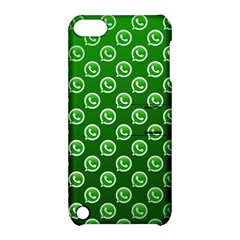 Whatsapp Logo Pattern Apple iPod Touch 5 Hardshell Case with Stand