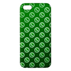 Whatsapp Logo Pattern Apple Iphone 5 Premium Hardshell Case