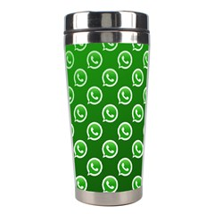 Whatsapp Logo Pattern Stainless Steel Travel Tumblers
