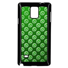 Whatsapp Logo Pattern Samsung Galaxy Note 4 Case (Black)