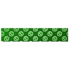 Whatsapp Logo Pattern Flano Scarf (small)